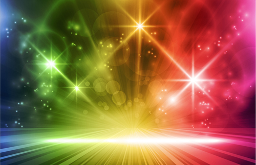 Glowing Abstract Backgrounds design vector 03 | Free download