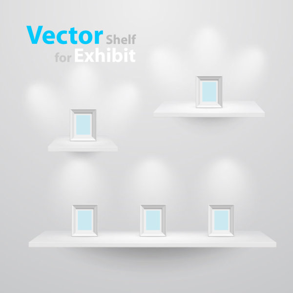 Exhibition Booth Vector Free Download : Goods showcase exhibition booth free vector download