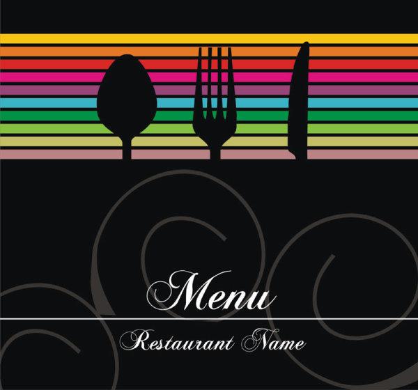 restaurant menu cover background vector 03
