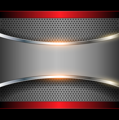 sparkling metal background design elements vector 05