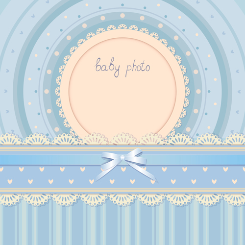 baby photo background vector set 01 free download