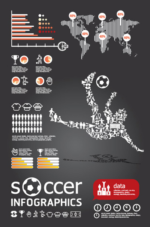 Set of Year Infographic and diagram vector 03