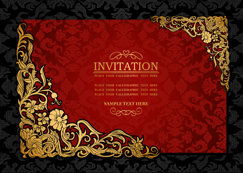 elements of luxury invitation background vector 02 free download