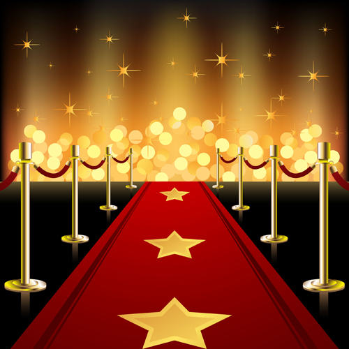 ornate red carpet backgrounds vector 04
