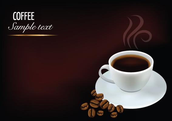 creative coffee art backgrounds vector 03