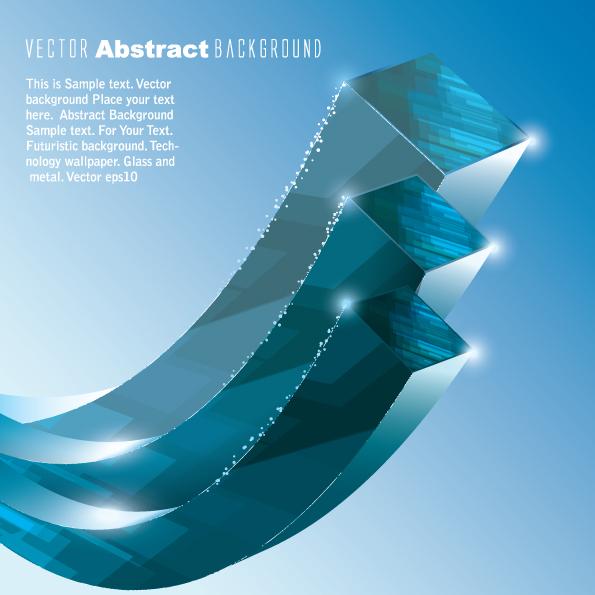 3d blue vector background 04