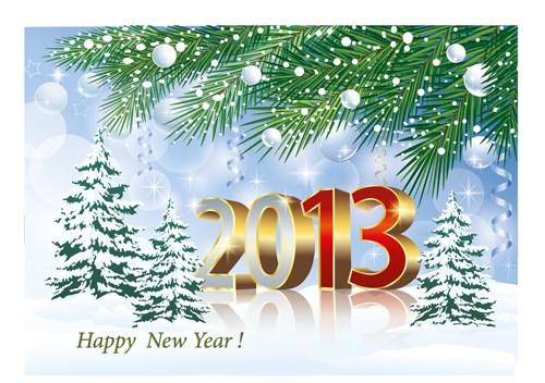 Bright 2013 New Year design vector  02