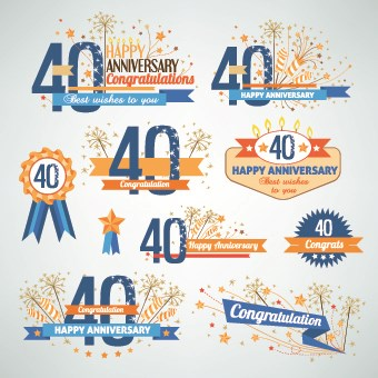 Happy anniversary Celebration design vector 08