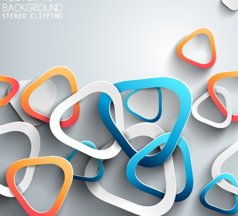 3D Paper background vector design 07 | Free download