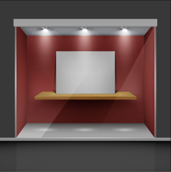 Exhibition Booth Free Download : Exhibition booth window free vector download