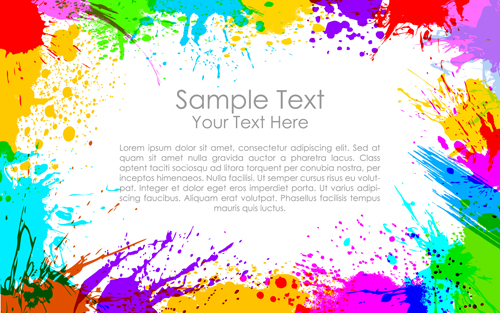 Happy holi Paints backgrounds 04 vector | Free download