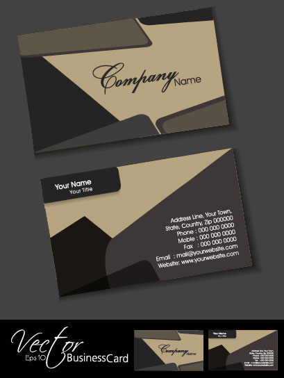 Exquisite Business Cards Design Elements Vector 01 Free Download