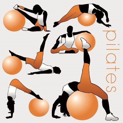 Fitness exercises design elements set 03 vector