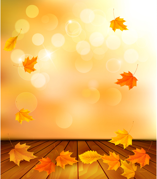 beautiful autumn leaves background vector 04 free download