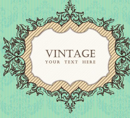 Vintage frame vector background art 03 | Free download
